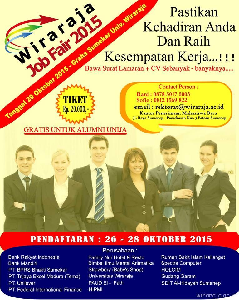 BURUAN IKUTI WIRARAJA JOB FAIR 2015!